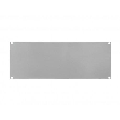 Panel Z-19 kształt U, wysokość 4U, srebrny