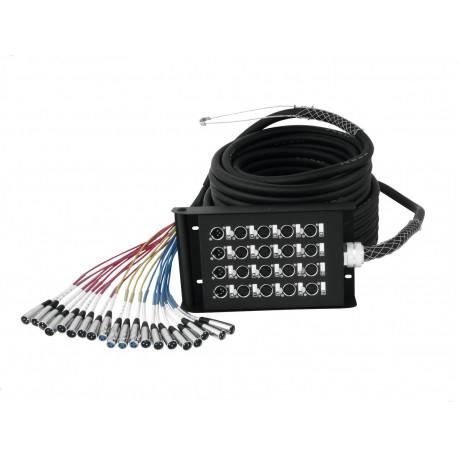 Stage Box z kablem Multicore 16 wejść/4 wyjścia XLR -  30m