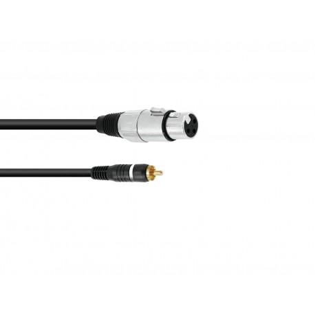Kabel XLRf - RCA - 5m