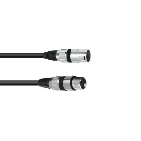 Kabel mikrofonowy XLRf-XLRm 1,5m