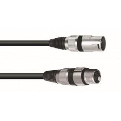 Kabel mikrofonowy XLRf-XLRm 3m