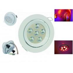 Lampa sufitowa LED DL-6 40° czerwony