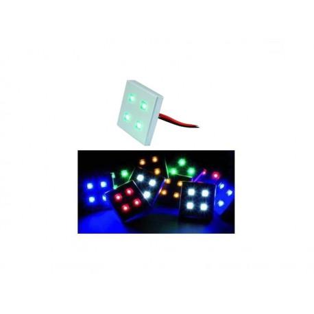 Zestaw 6 zielonych kostek LED- EUROLITE LED DL-4-6