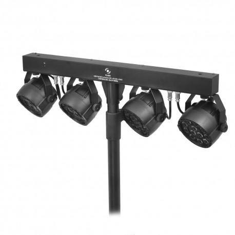 Rampa- 4x LED PAR 12x3W + Statyw + Kontroler Nożny