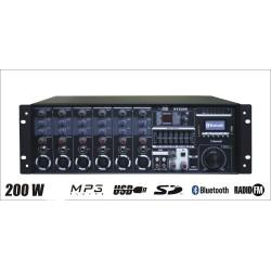 Wzmacniacz radiowęzłowy SY-2200 200W 100V